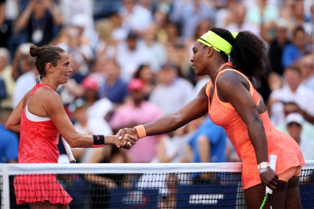 Roberta Vinci (Left), Serena Williams (Right).