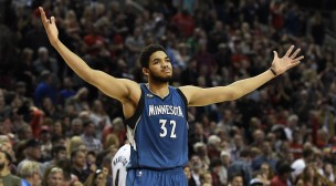 Minnesota Timberwolves Center, Karl Anthony-Towns.